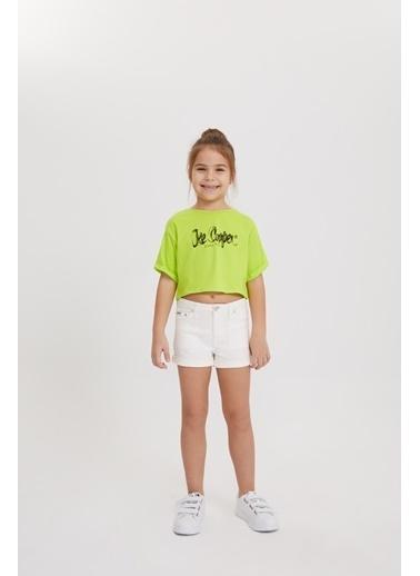 Lee Cooper Kız Çocuk Neon Pembe T-Shirt Yeşil
